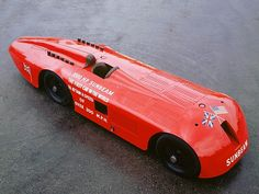 """1000 HP Sunbeam, the first car in the world to attain a speed of over 200 MPH."""