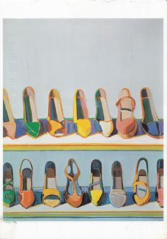 Wayne Thiebaud, Shoe Rows, 1975 #repetition #symmetrical