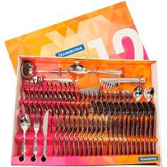 Faqueiro Aço Inox Laguna 91 Peças - - Shoptime.com