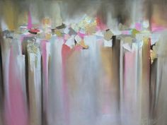 abstract pink painting by Blaire Wheeler