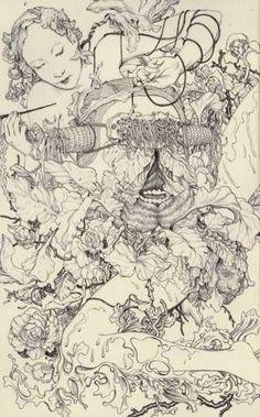 Deathly Forest Art - James Jean.