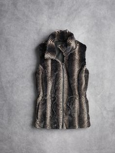 Reversible faux fur vest from Johnston & Murphy