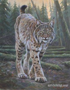 lynx painting by Kolobaev Yaroslav