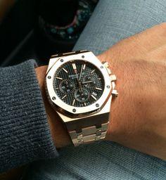- Watches I like Audemars Piguet Gold, Audemars Piguet Watches, Stylish Watches, Cool Watches, Rolex Watches, Vintage Watches For Men, Luxury Watches For Men, Jewelry Drawer, Men's Jewelry