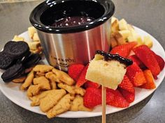 Chocolate Fondue  Cook Time: 5 minutes  Total Time: 5 minutes  Yield: 2 servings  Ingredients      1/4 cup of cream     6 ounces ...