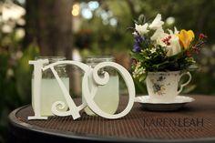 http://www.karenleahphotography.com/Weblog/?p=1902 Tea Cup, I Do sign, wedding decor, Backyard wedding