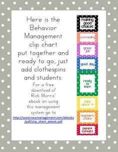 Polka Dot Behavior Management Clip Chart (Editable)