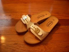 Vintage Dr Scholl's Sandals Slides Rubber by MyYiayiaHadThat, $35.00