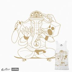 Ganesha Tank on Threadless