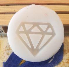 Diamante. stampo in gomma siliconica di Nitrobijoux su Etsy