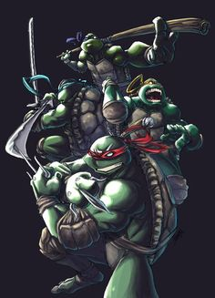 totoal coolness lines: col. Ninja Turtles Art, Teenage Mutant Ninja Turtles, Tmnt, Comic Books Art, Comic Art, Turtles Forever, Spiderman Pictures, Turtle Time, Cartoon Turtle