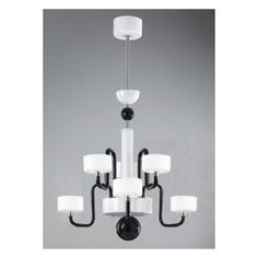 Check out the Zaneen D8-1287 Guggenheim 6 Light Chandelier in Chrome