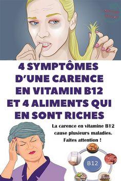 4 symptômes d'une carence en vitamine B12 et 4 aliments qui en sont riches Medditeranean Diet, Diet And Nutrition, Health Diet, Vitamin B12, Vit B12, Macro Nutrient Diet, Thrive Diet, Sante Bio, Ayurvedic Diet