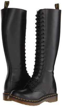Dr. Martens Women's 1B60 20-Eye Boot,Black,7 UK (US Women's 9 M)