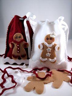 cute gingerbread gift bags