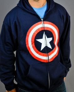 Captain America Shield Hoodie