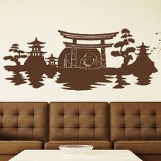Style and Apply Buddha Panorama Wall Decal Color: Royal Blue, Size: H x W