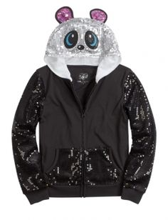 Sequin Sleeve Critter Hoodie from Justice