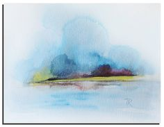 Original Watercolor painting Abstract Painting by WatercolorsTR