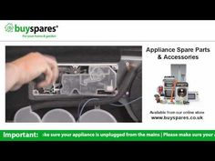 How to remove a soap dispenser from a dishwasher, BuySpares 'how to videos'.