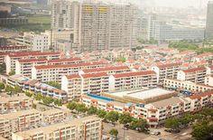 China mal anders: Hochhausblick auf Jiangyin am Tage