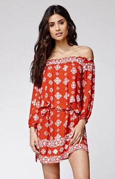 FAITHFULL THE BRAND Sifnos Dress Red and White