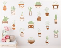 Succulent decals! For those of us who tend to kill plants.