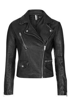 TALL Leather Biker Jacket - Topshop USA