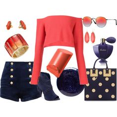 How to...Coral in the Winter by vicky-angelidou on Polyvore featuring Baja East, Pierre Balmain, Vince Camuto, Sophie Hulme, Oscar de la Renta, De Buman, New Directions, Ray-Ban, Bobbi Brown Cosmetics and Guerlain