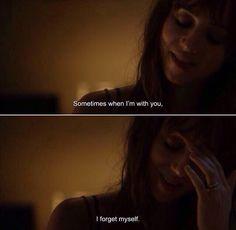 A veces cuando estoy contigo me olvido