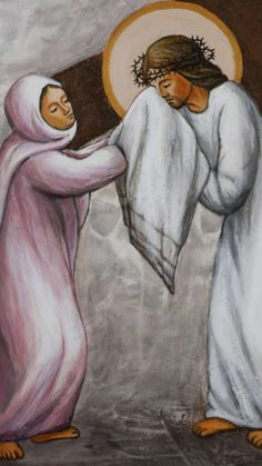 Station 6 - Veronica wipes the face of Jesus St Veronica, Catholic Catechism, Holy Saturday, Verona, Black Jesus, Jesus Face, Cross Art, Lion Of Judah, Religious Images