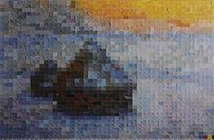 Vik Muniz, After Claude Monet (Pictures of Color), 2001 © Vik Muniz - Courtesy galerie Xippas