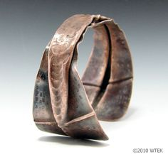 Cuff | Wendy Edsall-Kerwin. 'Skinny 2'.  Copper with patina