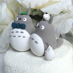 Custom Wedding Cake Topper  Cute Totoro Couple by 100original, $90.00