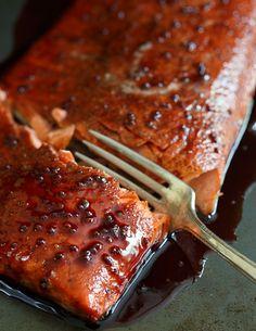 Tart Cherry Glazed Salmon. Not only is this glazed salmon delicious, it may help you sleep better at night thanks to the natural melatonin in tart cherries.   #gotart @choosecherries #sponsored
