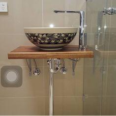 @oreobuilders #bathroom #taps #basin #plumbing by bathroomcollective #bathroomdiy #bathroomremodel #bathroomdesign