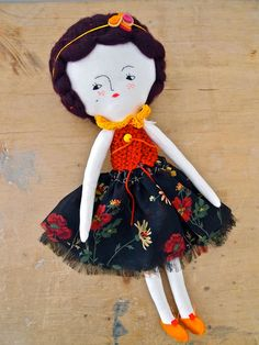 Miss Mouse rag doll hand crafted heirloom quality, Lucille