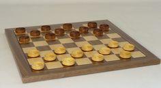 14 Wood Checker Set