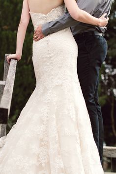 irresistible lace wedding gown from #allurebridals #lace #weddingfashion