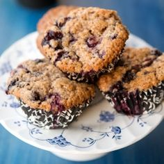 These muffins are 50 percent blueberry, 50 percent muffin, making them 100 percent the perfect breakfast.