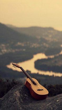 Guitar valley iPhone HD wallpaper