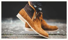 Brown men's leather boots - shoes, made in France by hand / City shoes / Casual, smart, trendy, lifestyle, menswear