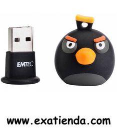 Ya disponible Memoria USB 2.0 Emtec 8gb angry birds negro bomb   (por sólo 20.89 € IVA incluído):   -Capacidad: 8GB -Interface: USB 2.0 -Velocidad lectura:15MB/s  -Velocidad escritura: 5MB/s  -Otros:-  -P/N: EKMMD8GA106 Garantía de 24 meses.  http://www.exabyteinformatica.com/tienda/3309-memoria-usb-2-0-emtec-8gb-angry-birds-negro-bomb #memoria #exabyteinformatica