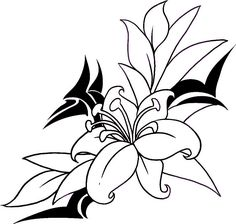 how to draw a flower tattoo step by step tattoos pop culture free Flower Tattoo Drawings, Flower Tattoo Designs, Tattoo Sketches, Flower Tattoos, Flower Designs, Art Drawings, Drawing Flowers, Pencil Drawings, Daisy Drawing