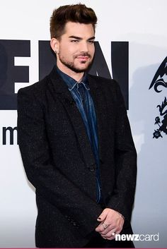 Adam Lambert attends a photocall on the occasion of the musical project 'Queen & Adam Lambert' at Ritz Carlton on December 11, 2014 in Berlin, Germany.  (Photo by Clemens Bilan/Getty Images)