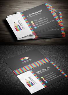 Colorful Art Business Card #businesscards #visitingcards #businesscardtemplate #graphicdesign #freebusinesscard
