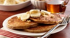 Banana Bread Pancakes: Get the delicious taste of banana bread at breakfast time. Go over the top and serve the pancakes with sliced bananas, chopped walnuts and maple syrup.