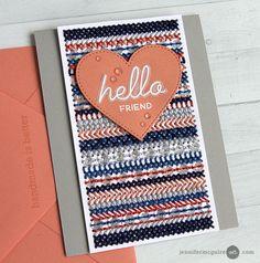 Scrapbook Cards | Card Making | Stamping | Scrapbooking | Jennifer McGuire | Creative Scrapbooker Magazine #cards #stamping #scrapbooking