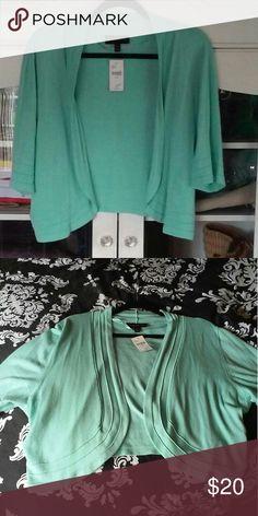 NWT Cardigan Sweater NWT Cardigan Sweater Mint Colored Size 22/24 Lane Bryant Sweaters