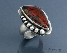 Sonora Plume Agate Ring by LauraBouton, via Flickr